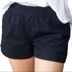 J Crew cotton faille pull on shorts